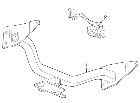 Trailer Hitch Components for 2008 Saturn Vue