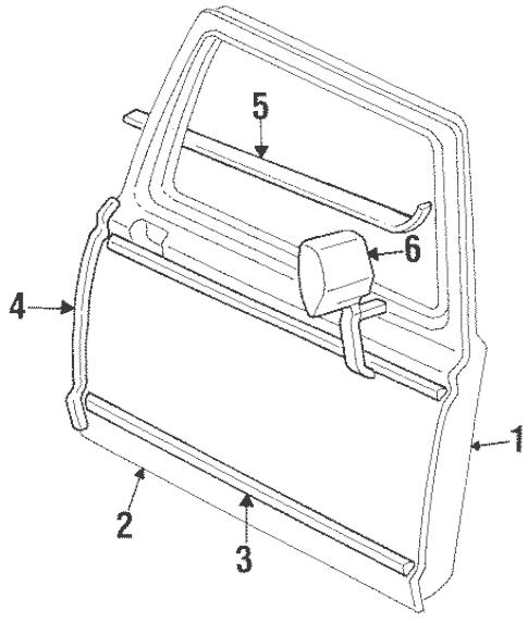 OEM 1996 Ford F-250 Door & Components Parts
