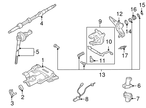 Genuine OEM Steering Column Assembly Parts for 2002 Toyota