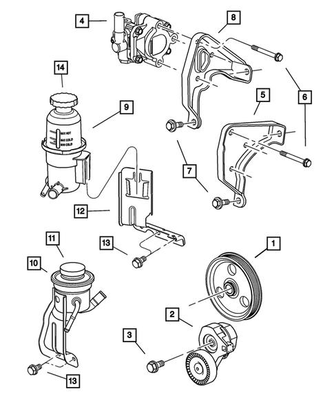 Power Steering Pump for 2001 Chrysler PT Cruiser