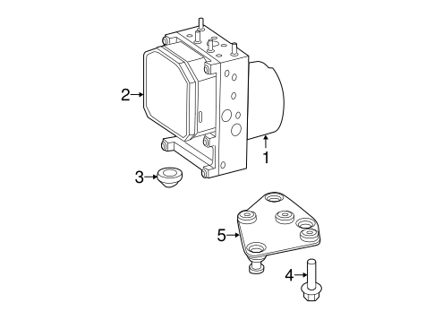 ABS Components for 2008 Dodge Sprinter 3500 Parts