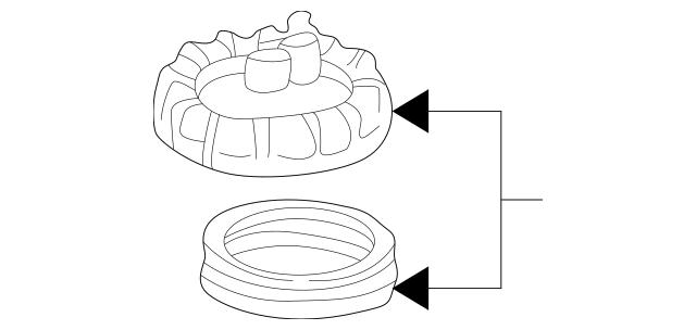 1998-2005 Mercedes-Benz Fuel Pump Assembly Lock Ring 163
