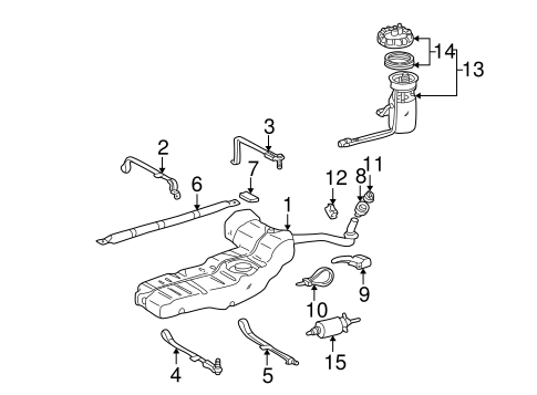 Fuel System Components for 1999 Mercedes-Benz ML 320