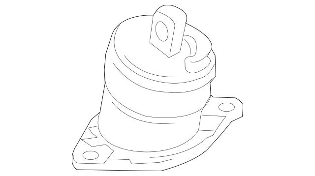2010-2014 Acura TSX SEDAN Rubber Assembly, Engine Side