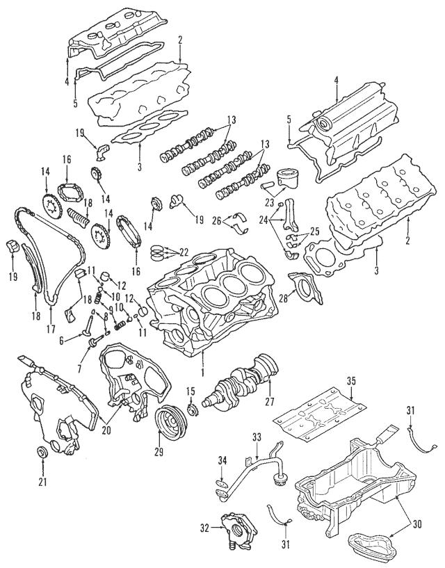 2000-2019 Nissan Engine Crankshaft Main Bearing 12207