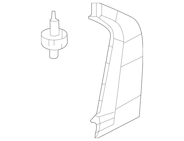 2012-2015 Honda Garnish, L Rear Door Pillar 72761-TR3-A00