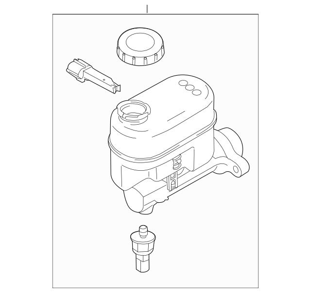 OEM Ford Part Part Number: 9C2Z-2140-J, Ford Cylinder