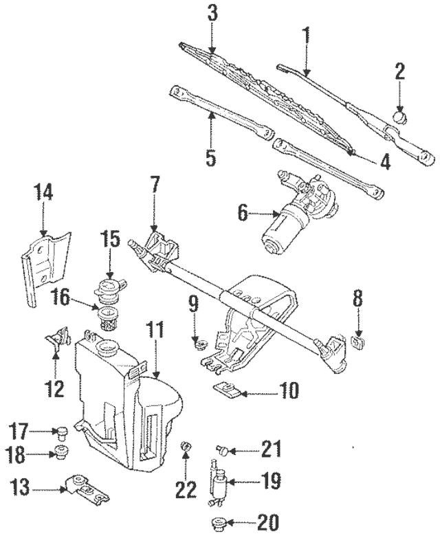Genuine OEM Washer Pump Seal Part# 443-955-465 Fits 1989