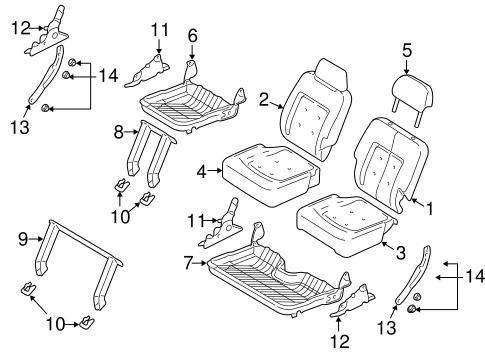 REAR SEAT COMPONENTS for 2004 Ford Expedition