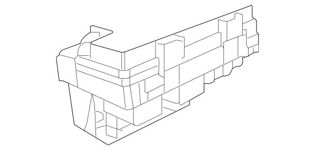 2010 Volkswagen Routan Fuse & Relay Box 7B0-937-087-F