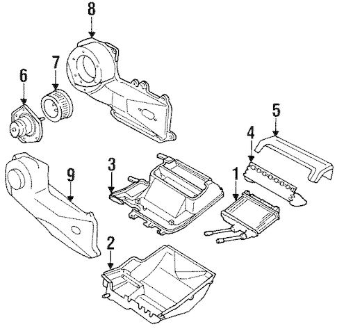 Service manual [Replace Heater Fan 1988 Pontiac Grand Am
