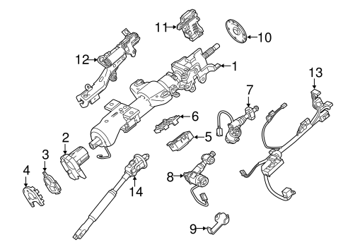 Steering Column Assembly for 2015 Cadillac Escalade