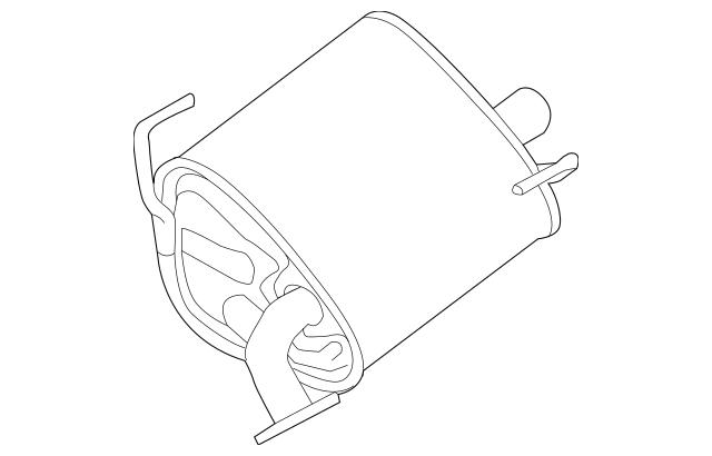 2014-2018 Subaru Forester Muffler & Pipe 44300SG010