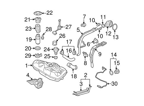 FUEL SYSTEM COMPONENTS for 2003 Toyota Corolla