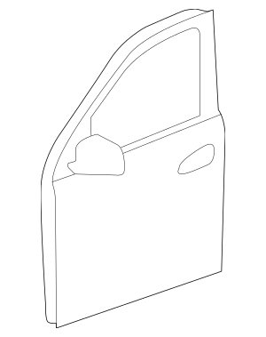 2012-2019 Mercedes-Benz Door Shell 166-720-01-05