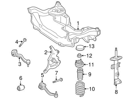SUSPENSION COMPONENTS for 2005 Mercedes-Benz SLK350