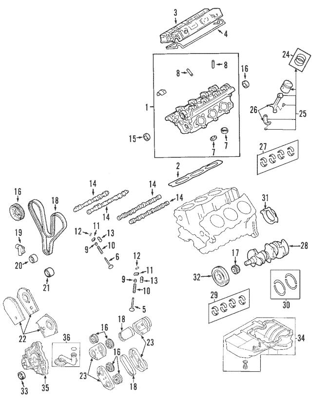 2002-2005 Land Rover Freelander Cylinder Head LDF108870L