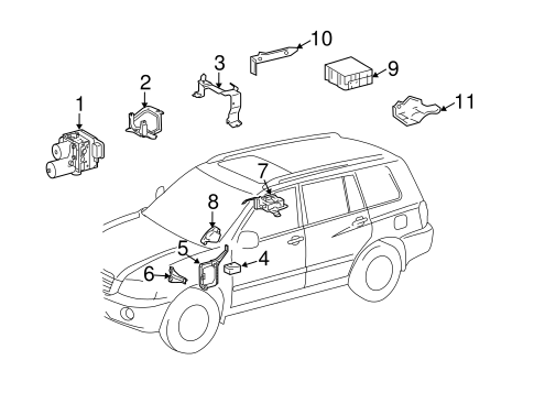 Genuine OEM Stability Control Parts for 2007 Toyota