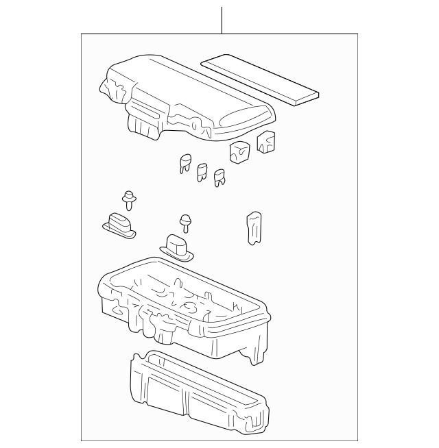 2001-2004 Honda ODYSSEY 5-DOOR Box Assembly, Main Fuse