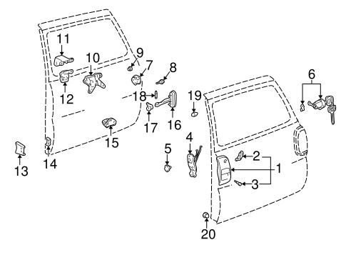 Genuine OEM Lock & Hardware Parts for 1996 Toyota RAV4
