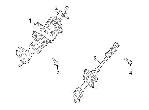 Veracruz Steering/Steering Column Assembly Parts