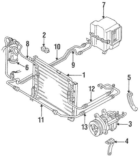 Genuine OEM Condenser, Compressor & Lines Parts For 1989