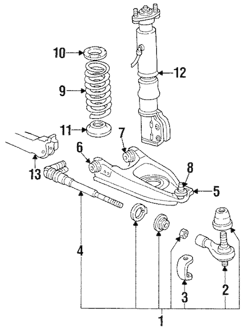 Rear Suspension Parts for 1999 Pontiac Bonneville