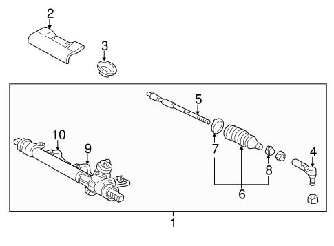 STEERING GEAR & LINKAGE Parts for 2003 Saturn L200