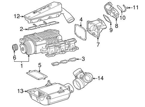 Supercharger & Components for 2004 Mercedes-Benz SLK 32