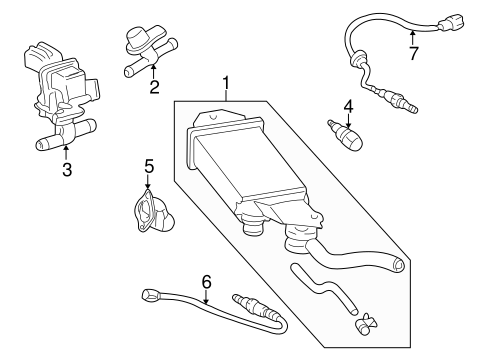 Genuine OEM Emission Components Parts for 2001 Toyota Echo