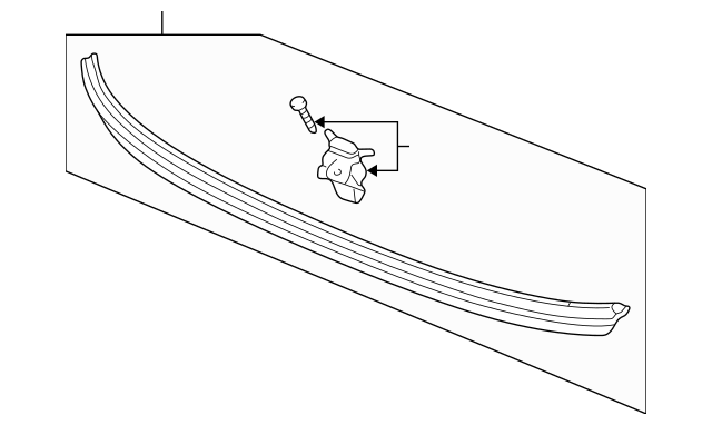 Original Molding Assembly, Rear Windshield (Lower) for