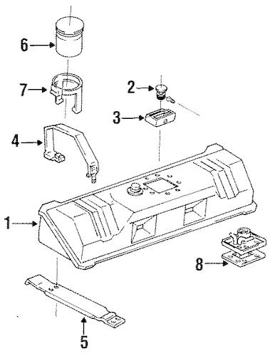 FUEL SYSTEM COMPONENTS for 1987 Chevrolet Corvette (Base)