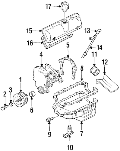 ENGINE PARTS for 1998 Chevrolet Monte Carlo