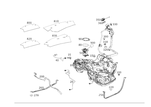 Fuel Tank with Detachable Parts for 2017 Mercedes-Benz
