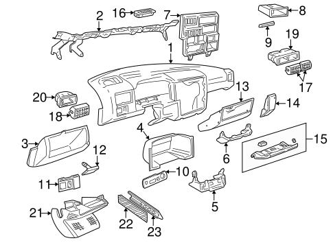 Instrument Panel Components for 1999 Volkswagen EuroVan