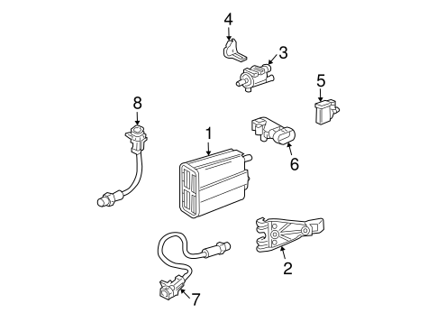 Emission Components for 2005 Chevrolet Trailblazer EXT