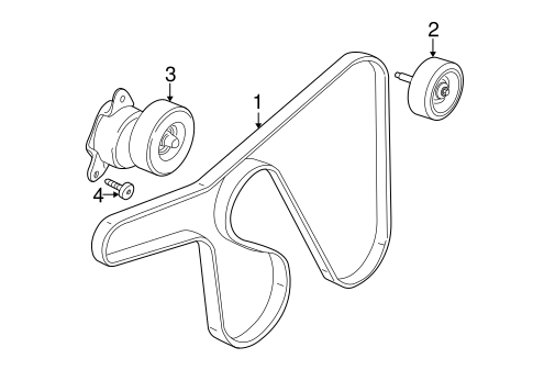 Accessory Drive Belt System Components for 2001 Ford Focus