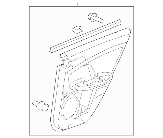 Lining, R Rear Door (Lower) *NH690L* (Premium Black