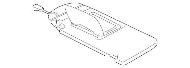 Buy this Genuine 2007-2012 Mitsubishi Eclipse Sun-Visor