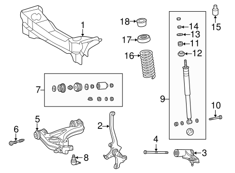 Suspension Components for 2003 Mercedes-Benz CLK 55 AMG
