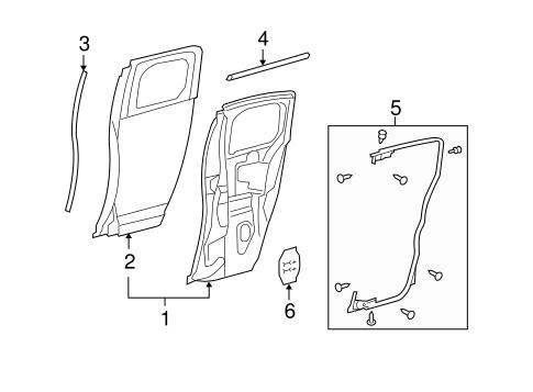 Genuine OEM Door & Components Parts for 2012 Toyota FJ