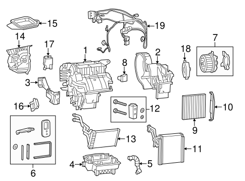 EVAPORATOR & HEATER COMPONENTS for 2015 Jeep Cherokee