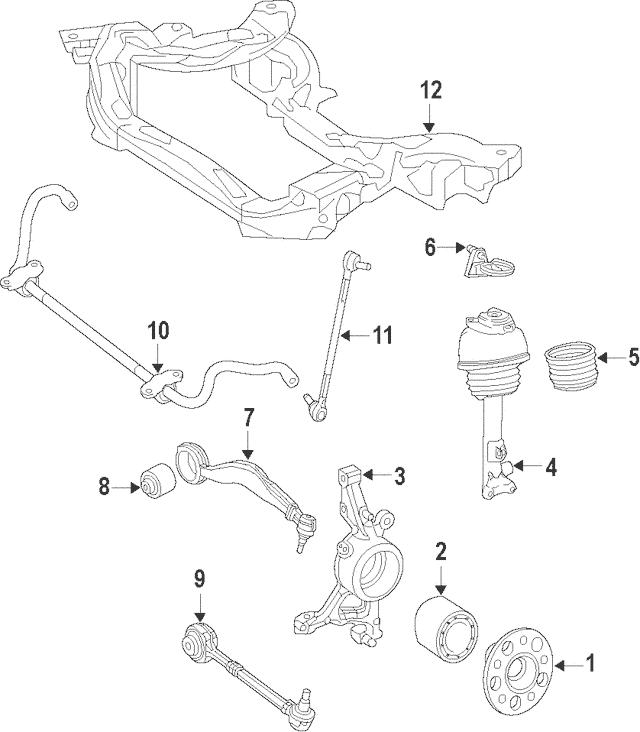 Mercedes-Benz Remanufactured Air Suspension Strut 212-320