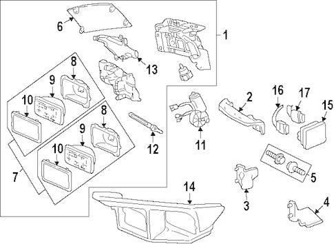 OEM 2000 Pontiac Firebird Headlamp Components Parts