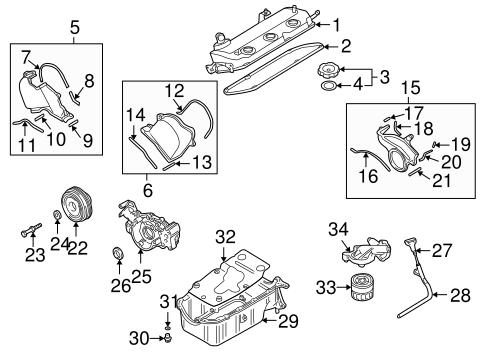 ENGINE PARTS for 2003 Mitsubishi Montero