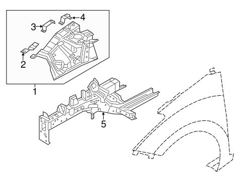 Elantra GT Body/Structural Components & Rails Parts