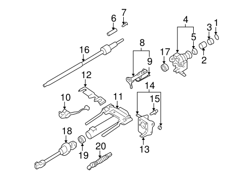 OEM SHAFT & INTERNAL COMPONENTS for 2010 GMC Canyon