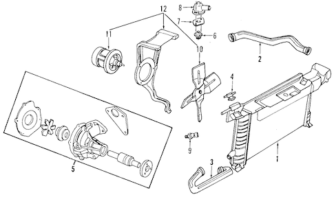 RADIATOR & COMPONENTS for 1990 Ford Tempo