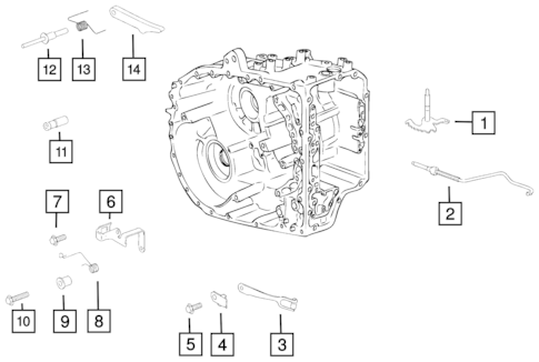 Valve Body, Accumulator, Solenoid and Parking Sprag for