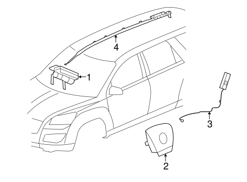 OEM AIR BAG COMPONENTS for 2015 Buick Enclave